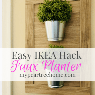 Love indoor plants, but have trouble keeping those little suckers alive? Yeah, me TOO! Click to the post to see how to turn a cabinet door into a (faux) plant hanger using things from IKEA. Break out your glue gun, hun! It's time to get craftin'.