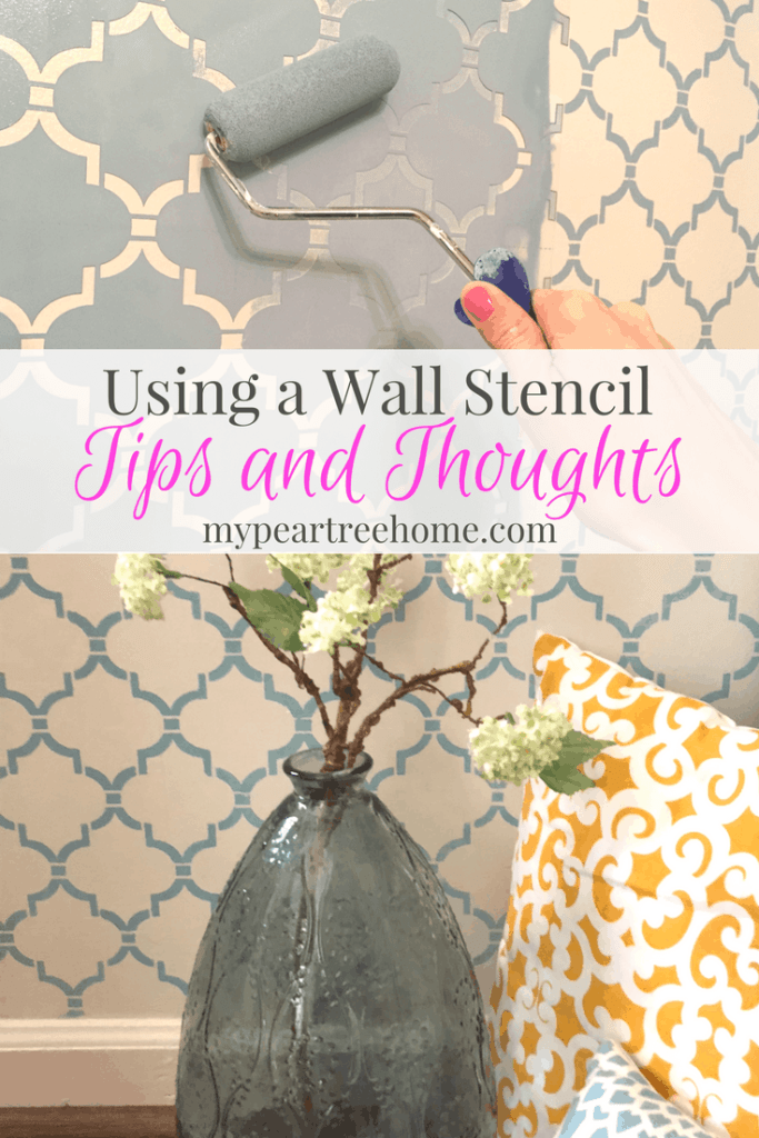 "Wall stencils are quite popular at the moment and give you a lot of ""bang for your buck"". Curious about the process and want to get started? Click to the post for tips for success!"