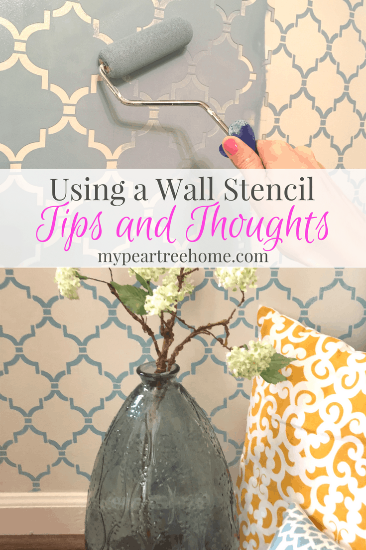 "Wall stencils are quite on-trend at the moment and give you a lot of ""bang for your buck"". Curious about the process and want to get started? Click to the post for tips for success!"