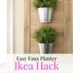 Ikea Hack Faux Hanging Planter