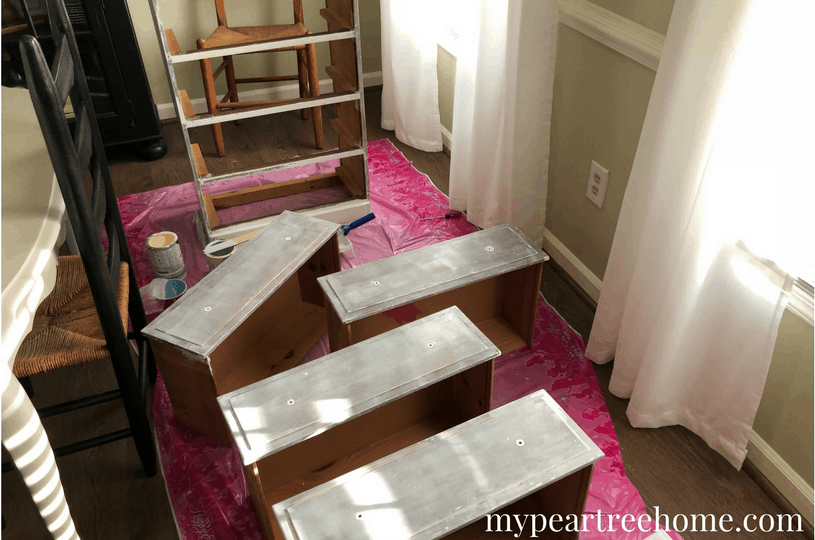 Got a piece of furniture that needs some updating? Check the post to see how I spiced up my drawers-my dresser drawers that is! And also how I made FREE drawer pulls. Details in the blog post!