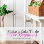 DIY Sofa Table with Stair Spindles
