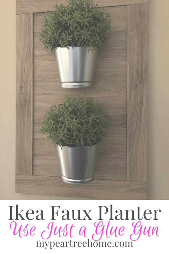 Use materials from IKEA to create this easy faux planter wall hanging