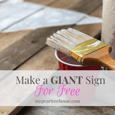 Tutorial on how to make a very large wooden sign for free