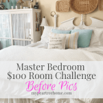 Master Bedroom Refresh for $100 Room Challenge