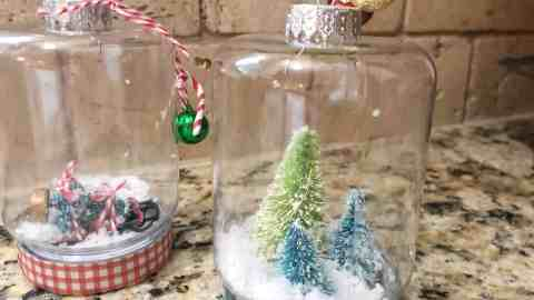 mini snowglobe ornament