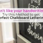 The Secret Behind Chalkboard Lettering