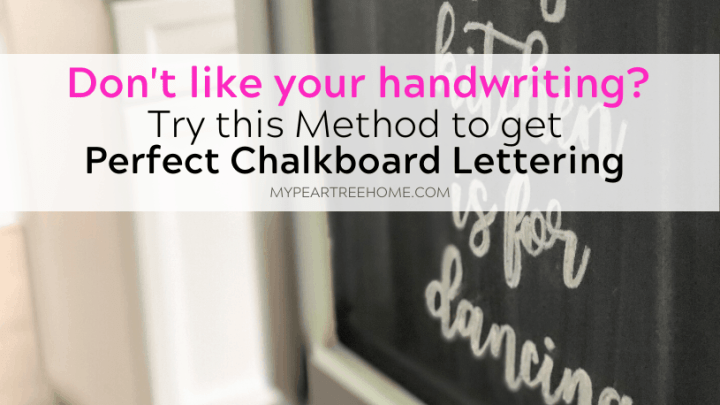 The Secret Behind Chalkboard Lettering