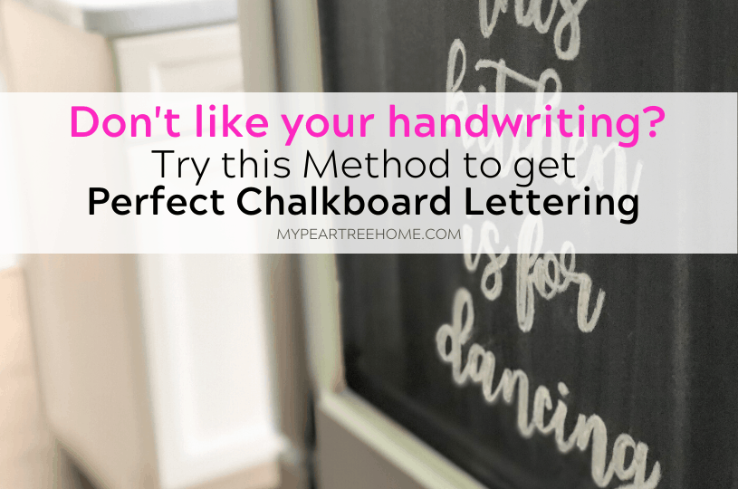 Curious how some people get their chalkboard lettering so....perfect? Chalkboard lettering doesn't have to be difficult. Click to the post to learn how to do chalkboard lettering and chalkboard art the easy way. All you need is a chalkboard writing template and you are set to learn this cheater method.