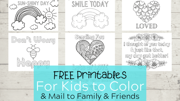 Printables for Kids to Color and Mail