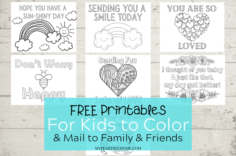 free printable cards to color