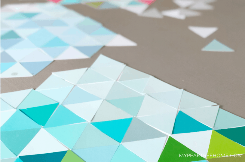 Make Easy Paint Chip Wall Art