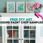 Make This Easy Paint Chip Wall Art