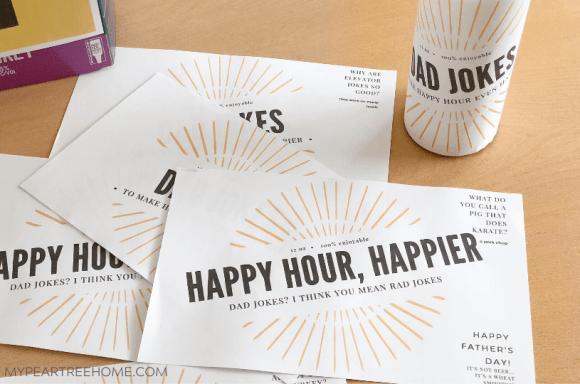 printable beer labels with dad jokes