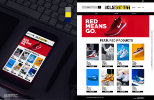 red sneaker site