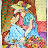 Woven painting