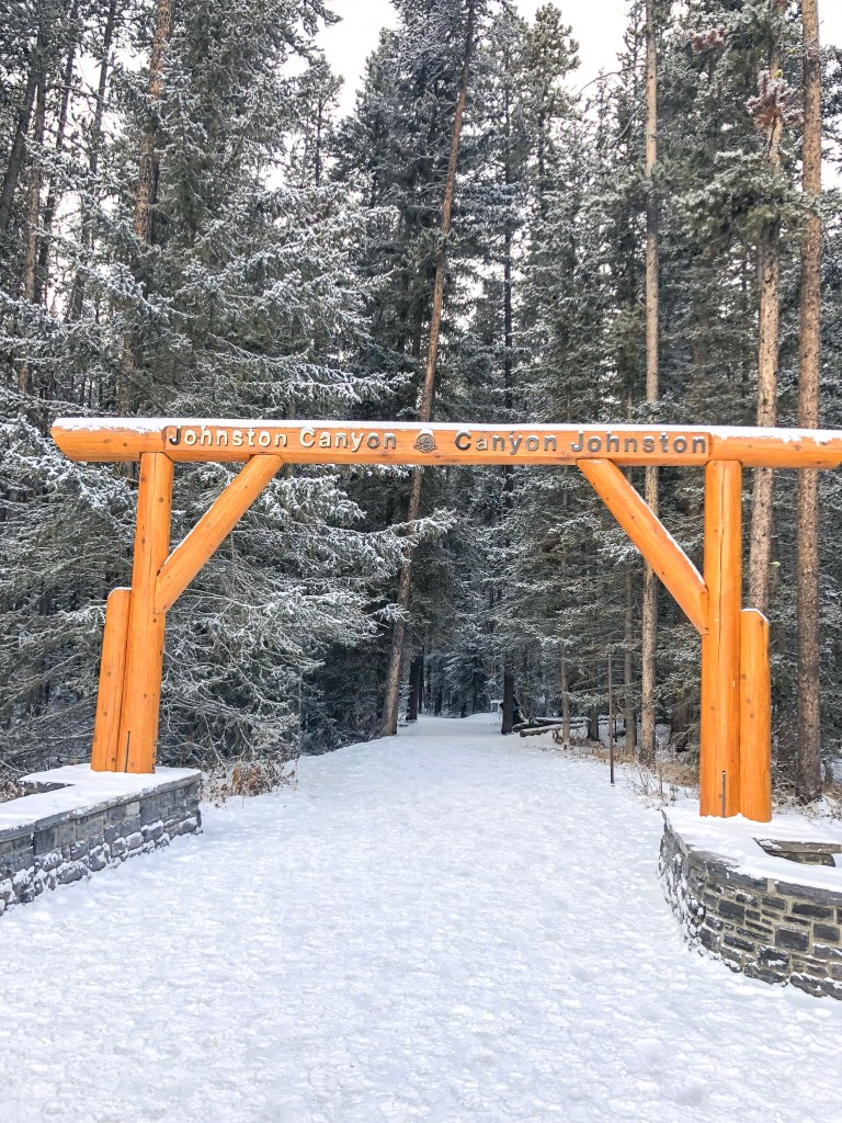Johnston Canyon Hike in the Winter