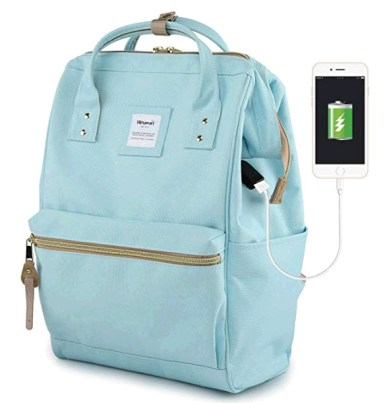 travel Backpack with USB plug in