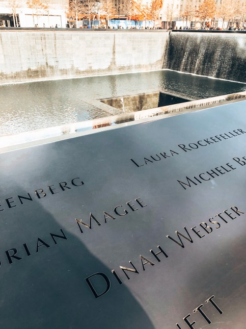 911 Memorial Fountains in NYC