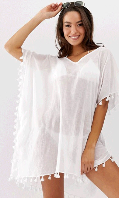 White Bathing Suit Cover Up For Summer Travel