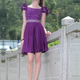 purple dama dress