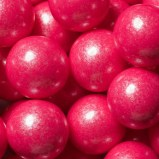 Bright pink shimmer gumballs
