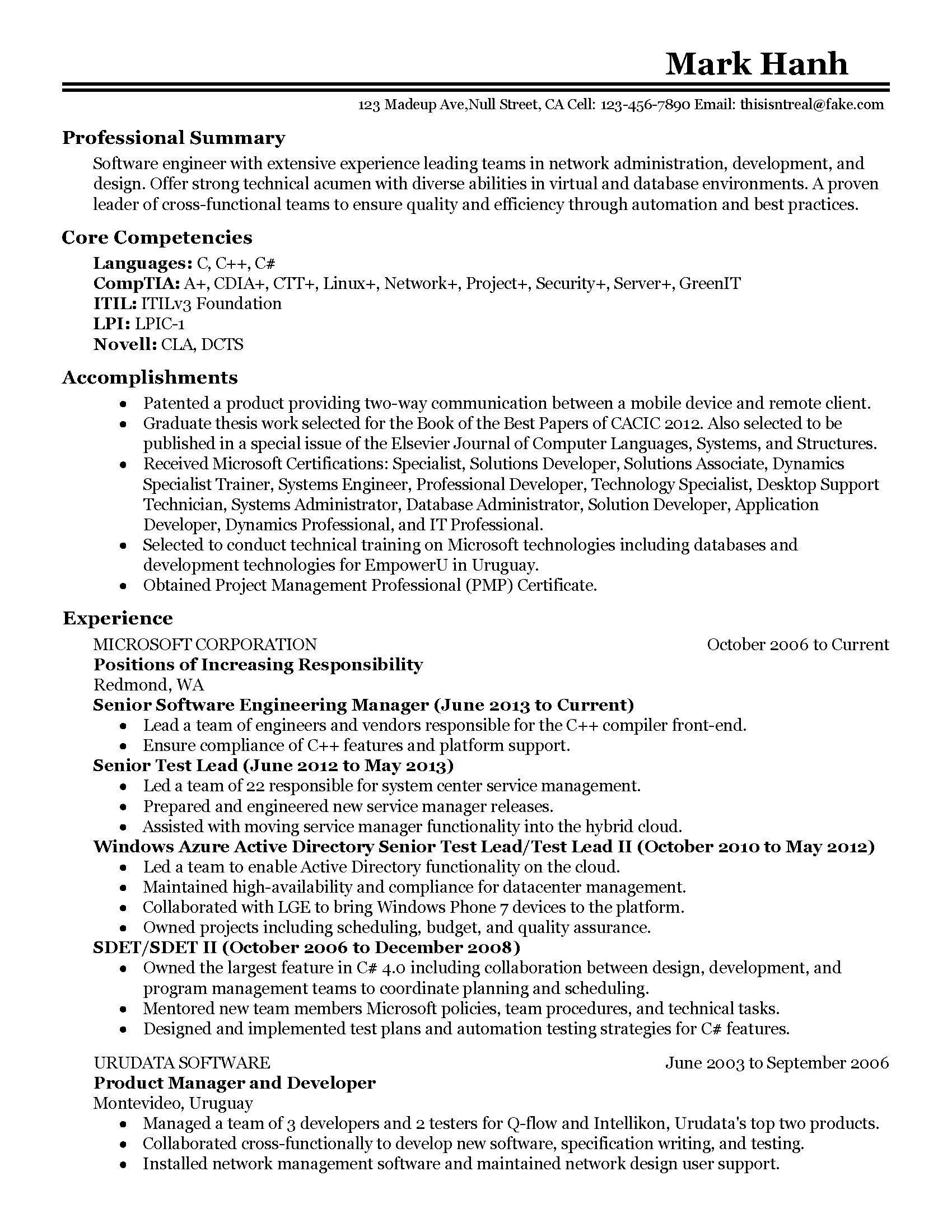 Software Professional Resume Samples Professional Software Engineering Manager Templates To Showcase