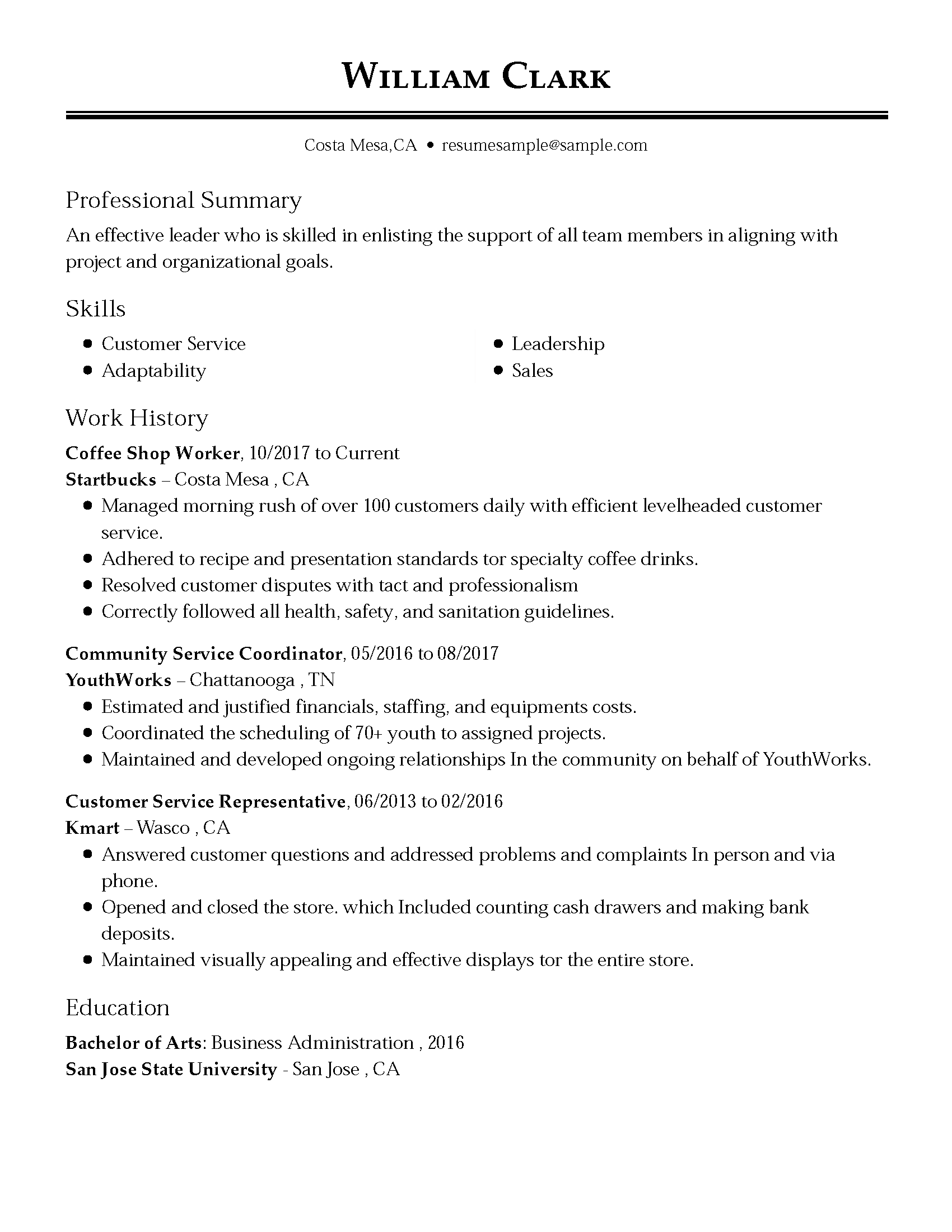 Resume Template For Customer Service Representative Customer Service Representative Resume Examples Free To