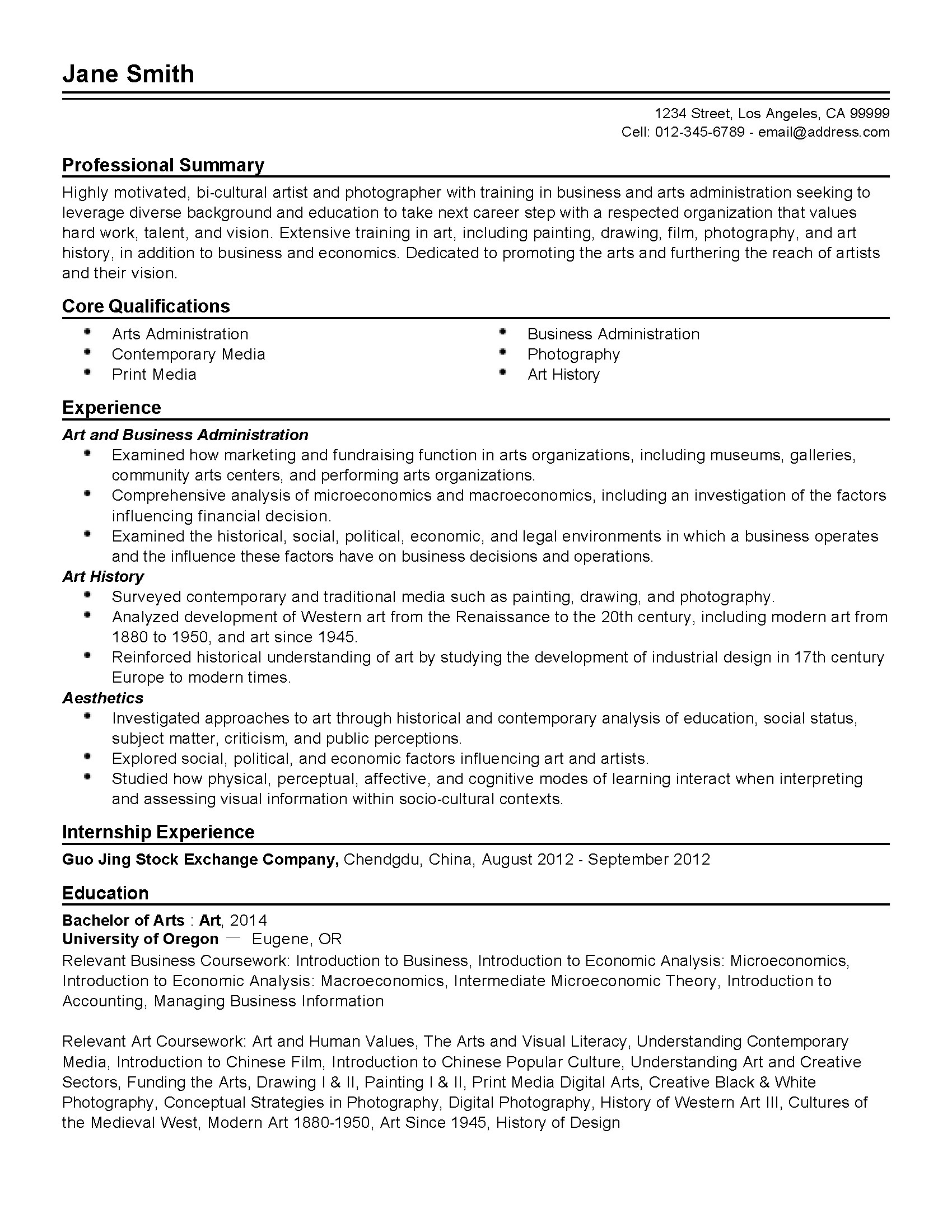 Art And Craft Teacher Resume Professional Art Administrator Templates To Showcase Your