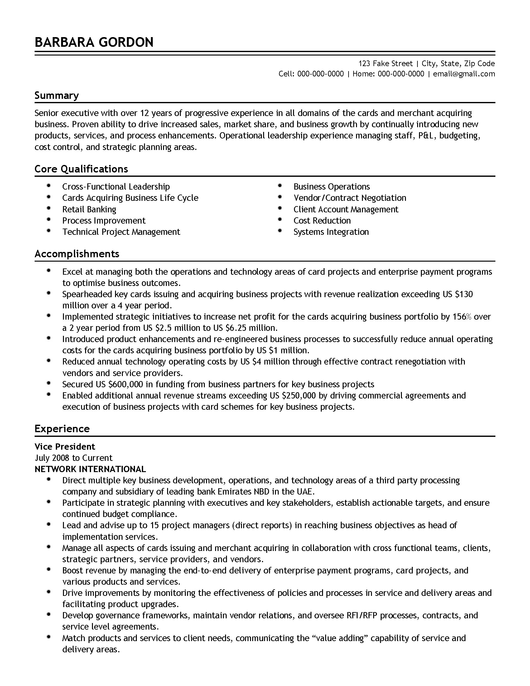 Commercial Banker Resume Professional Corporate Banking Executive Templates To Showcase