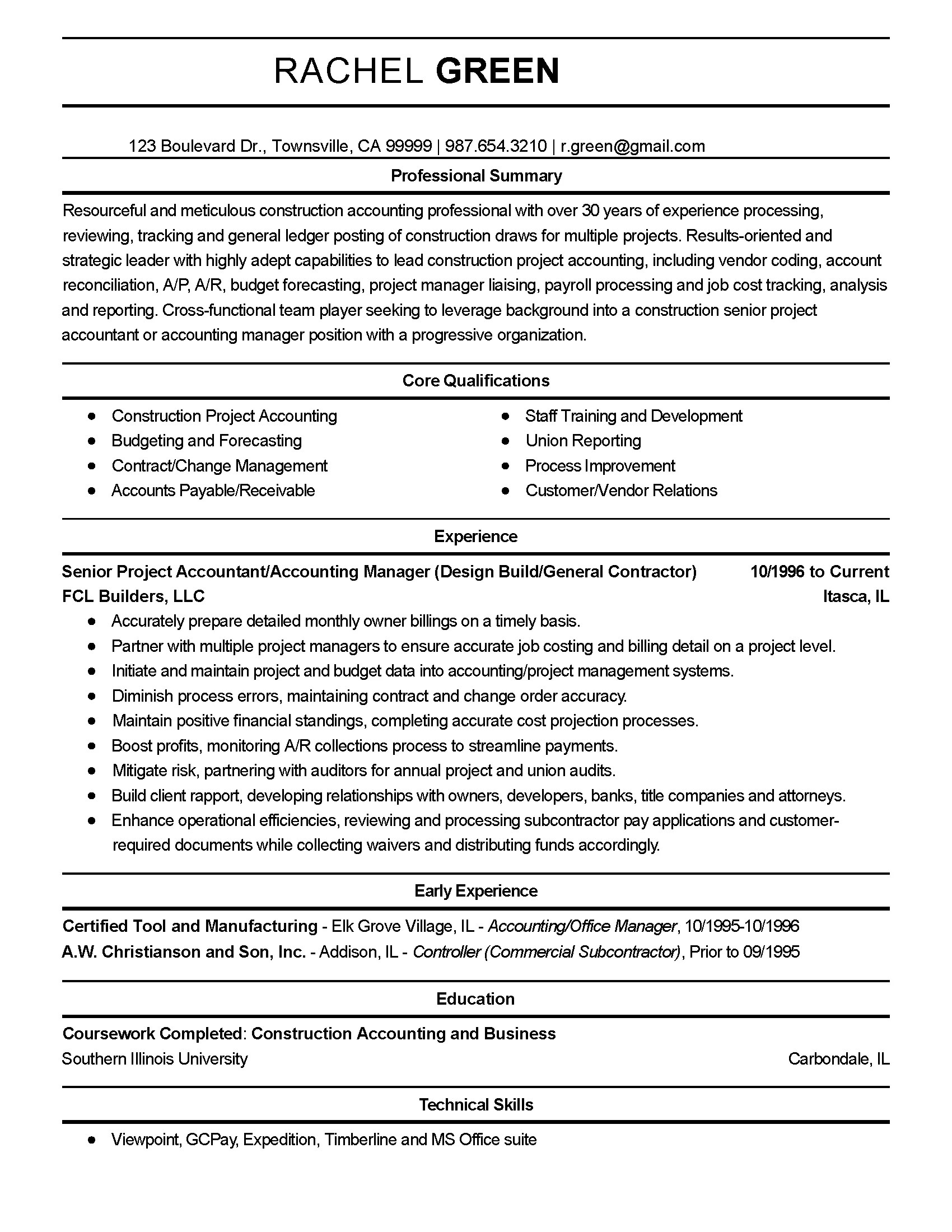 Resume Accountant Project Cost Controller Cover Letter Sarahepps
