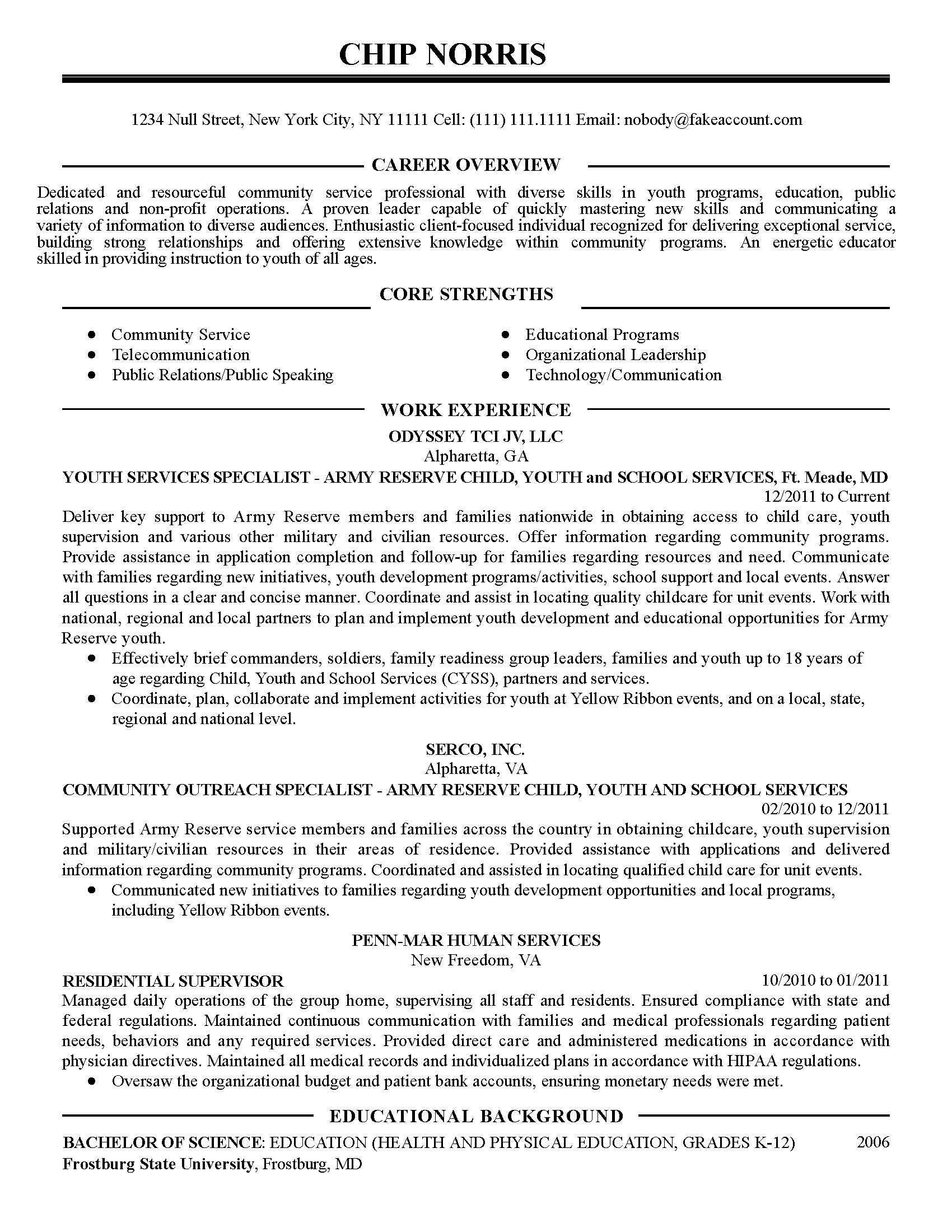 Non Profit Program Manager Resume Professional Community Service Coordinator Templates To