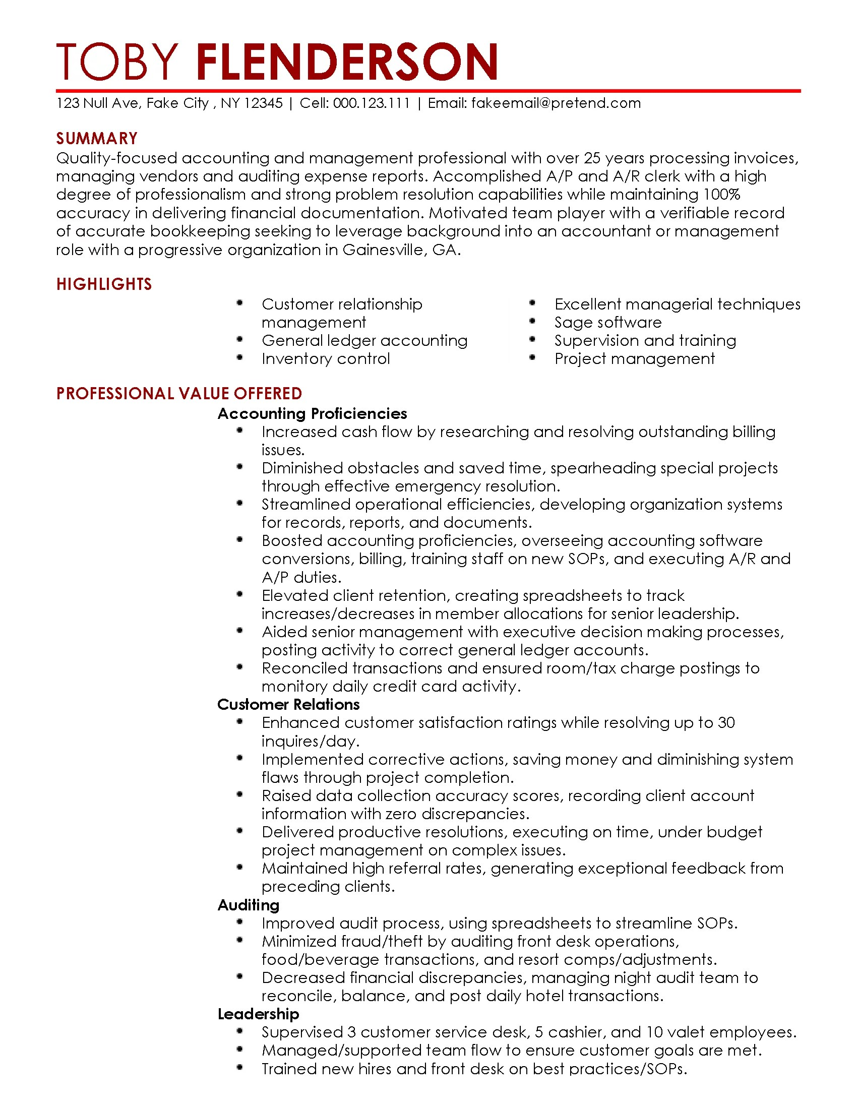 Professional Accounting Resume Templates Professional Accounting Manager Templates To Showcase Your