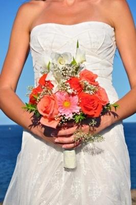 Wunderschne Hochzeit auf einer Klippe mit Meerblick auf Teneriffa