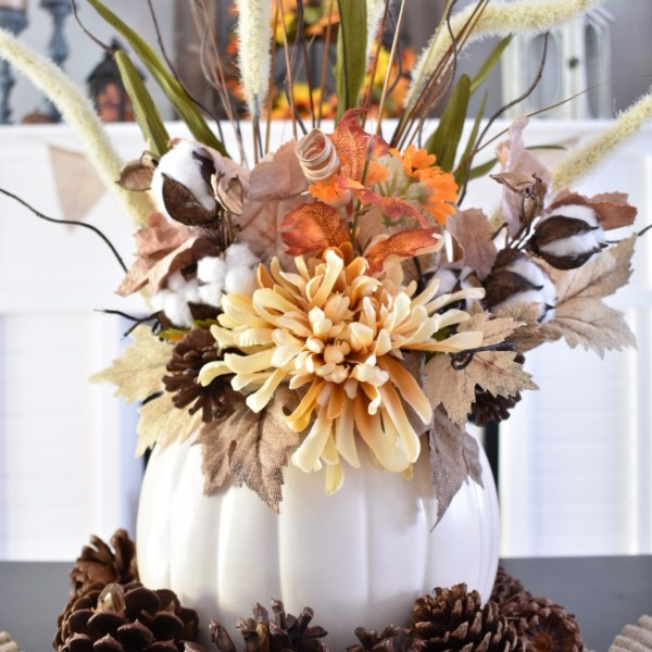 DIY Faux Pumpkin Centerpiece