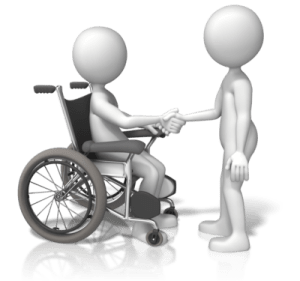 figure in wheelchair