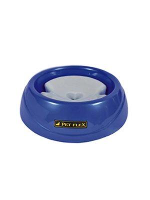 Bebedouro Pelo Longo Cães e Gatos 500ml Azul Pet Flex