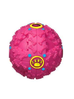Bola para Petisco para Cães 10cm Rosa