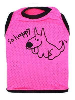 Camiseta para Cachorros Regata Happy com Proteção UV Rosa