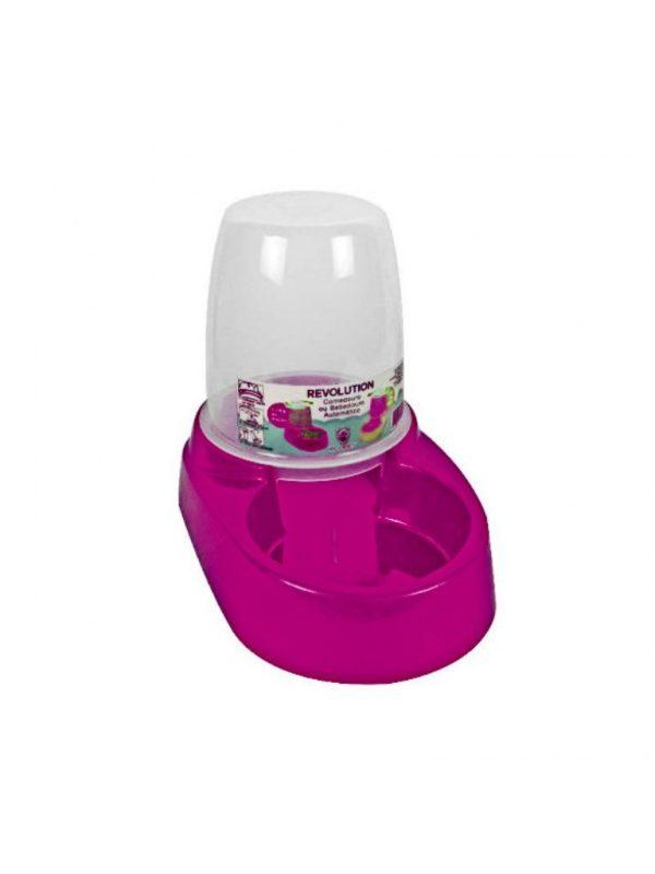 Comedouro ou Bebedouro Automático Cães e Gatos 1,8 litros Rosa Escuro