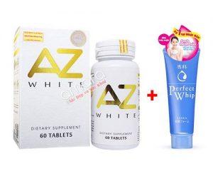 Viên uống trắng da sáng tự nhiên sau 4 tuần AZ White 60 viên