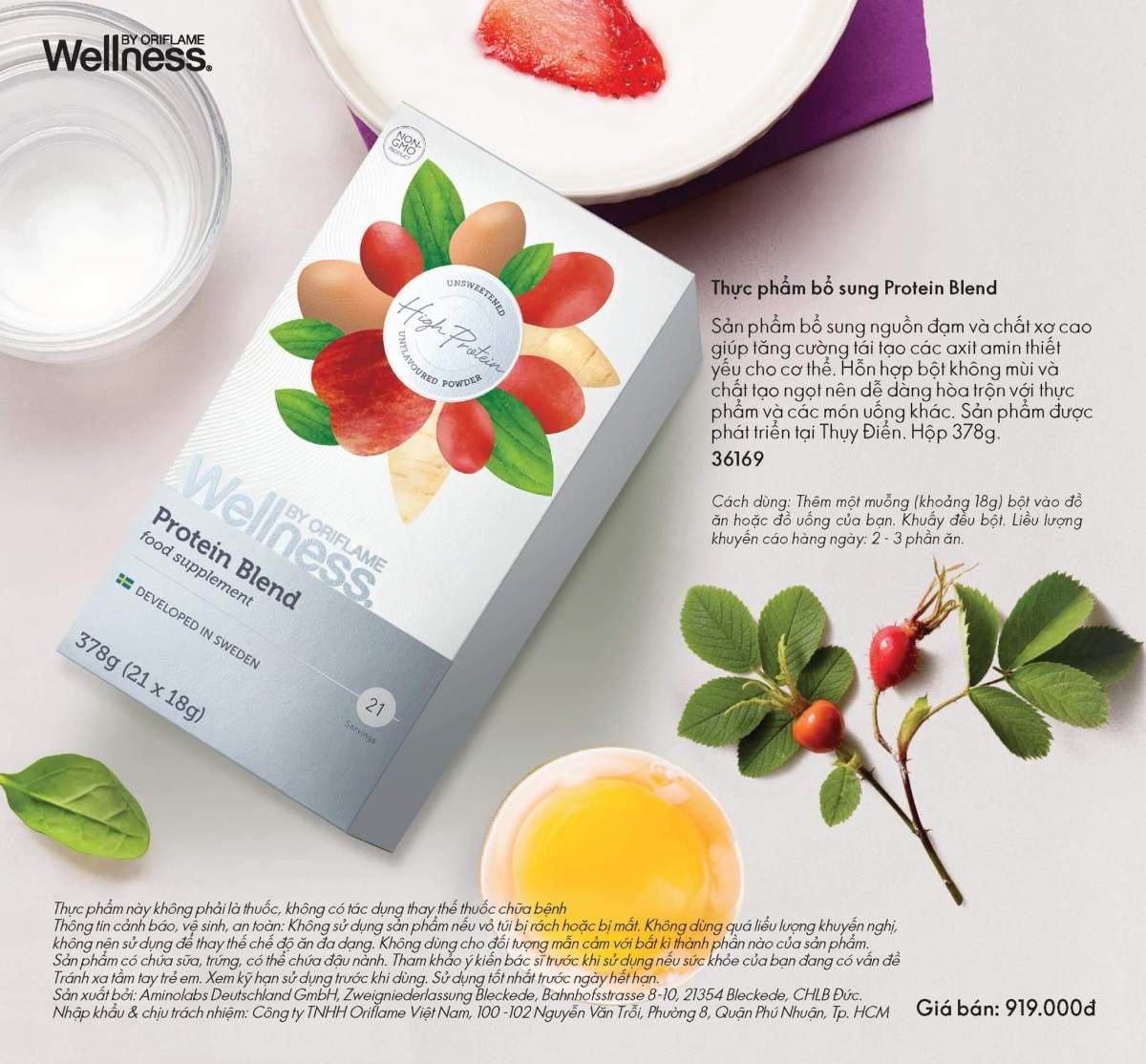 Catalogue thực phẩm bổ sung - Wellness By Oriflame 2019 2