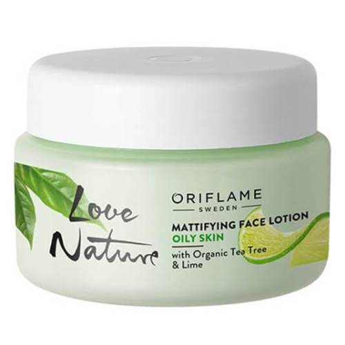 34845 oriflame - kem dưỡng da love nature Mattifying Face Lotion with Organic Tea Tree & Lime