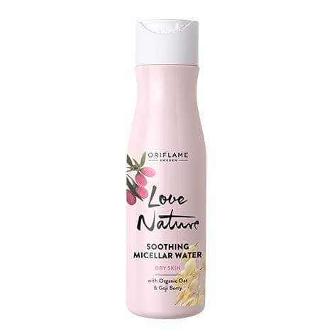 34858 oriflame - Sữa rửa mặt Love Nature Soothing Micellar Water with Organic Oat & Goji Berry