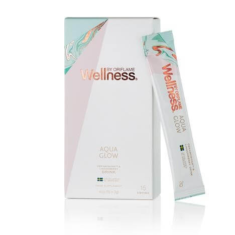 32557 oriflame - wellness by oriflame Aqua Glow drink with Ceramosides ™ and lingonberries