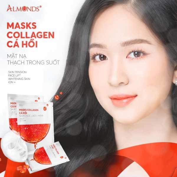 Mặt nạ Collagen Cá Hồi Almonds