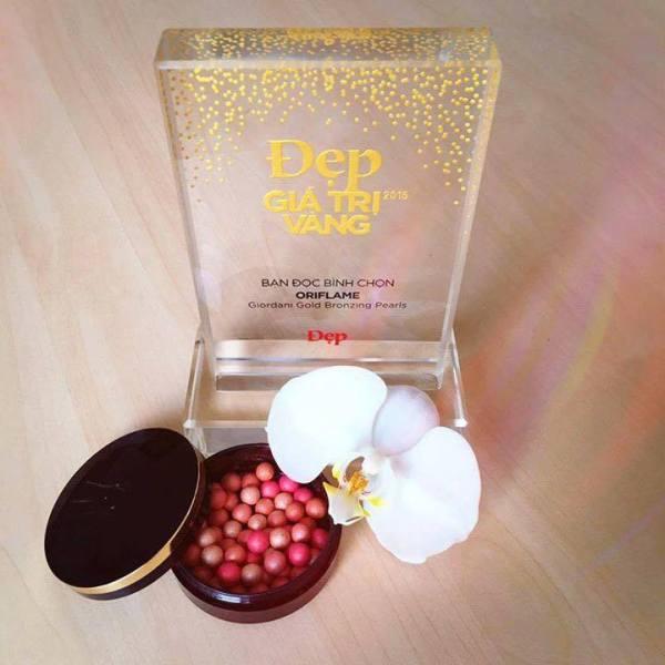Giải thưởng Đẹp Giá trị Vàng 2015 dành cho sản phẩm phấn má hồng ngọc trai Giordani Gold Bronzing Pearls