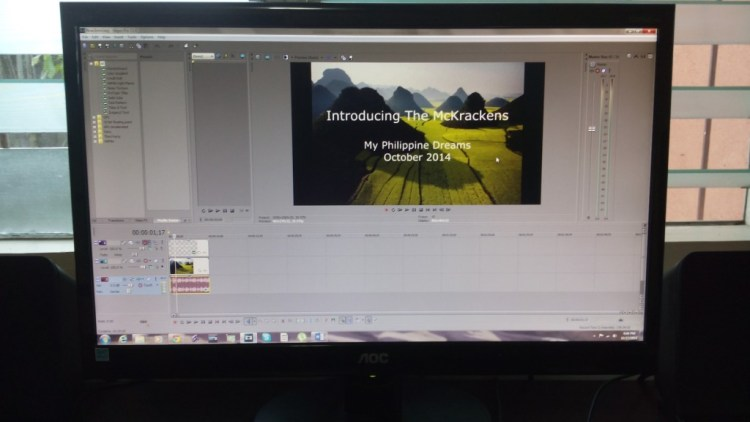 21 inch LED with Sony Vegas - yep, another exciting video in the works....