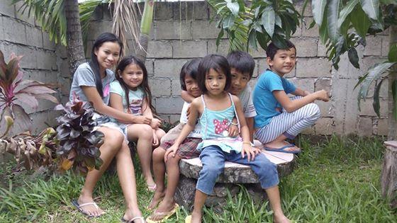 Michell and neighborhood kids