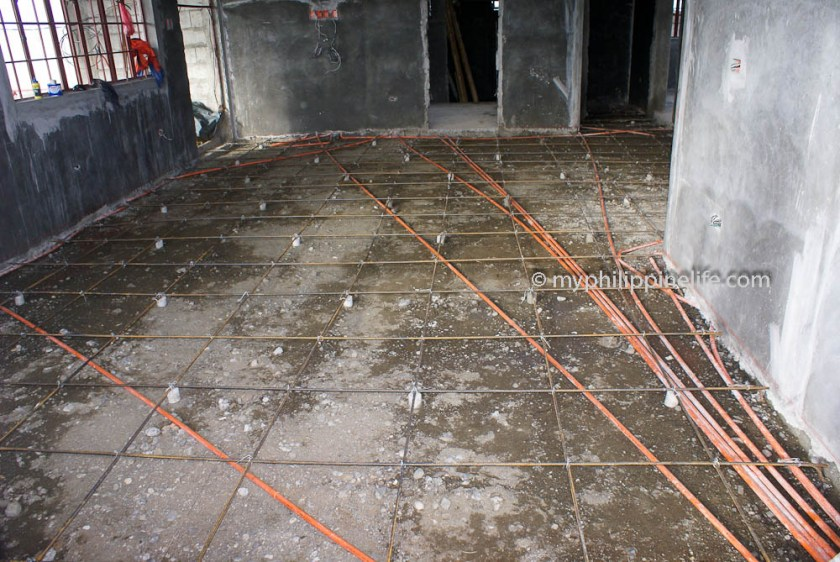 Conduit will be imbedded in concrete floor
